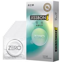 杰士邦 避孕套 男用 超薄 ZERO零感清薄纯净12只